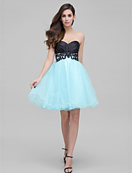 TS Couture® Prom  Cocktail Party Dress A-line Sweetheart Short / Mini Satin / Tulle with Appliques