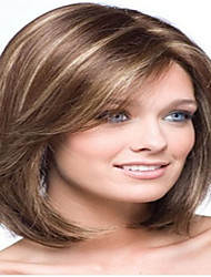 Popular Long Straight Light Brown with Strips Synthetic Hair Wigs