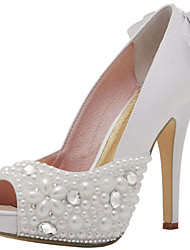 Women's Wedding Shoes Heels / Peep Toe / Platform Sandals Wedding / Party & Evening / Dress White