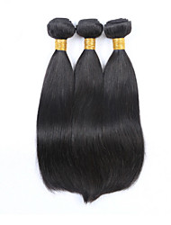3Pcs Lot Peruvian Straight Hair Wefts Mix Length 8-30 Inches Virgin Human Hair Extensions #1B Color