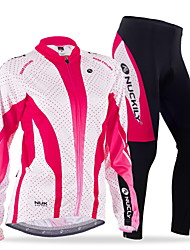 NUCKILY® Cycling Jersey with Tights Women's / Men's Long Sleeve BikeBreathable / Thermal / Warm / Windproof / Anatomic Design / Fleece