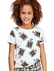 Girl's White Tee Cotton Summer