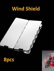 Sliver 8 Plates Fold Outdoor Picnic Camping Stove Wind Shield
