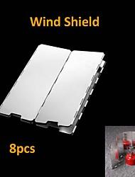 astilla 8 placas se pliegan escudo contra el viento estufa de camping picnic al aire libre