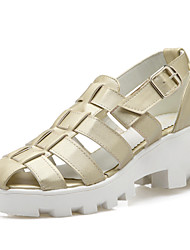 Women's Shoes Chunky Heel Slingback / Gladiator Sandals Dress White / Silver / Gold