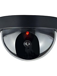 1pc binnen buiten cctv valse security dummy dome camera met flahsing rode led licht