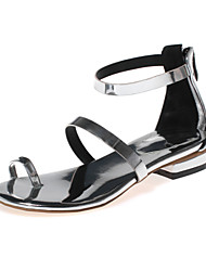 Women's Shoes Leather Low Heel Toe Ring / D'Orsay & Two-Piece / Gladiator / Open Toe Sandals Outdoor / Dress