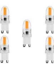 5pcs G9 Silicone 3W 260lm 3000K/6000k 1x1505 LED Warm/Cool White Light Bulb Lamp (AC220-240V)