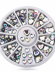 1wheel Heart AB Rhinestones 3d Nail Art Decorations