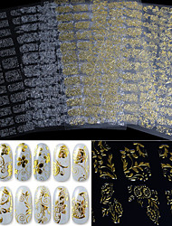 1pcs 3D Gold and Silver Nail Sticking Phototherapy Nail Decals