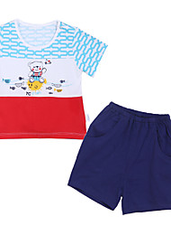 Girl's Clothing Set,Cotton Summer Blue