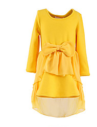 Girl's Blue / Yellow Dress Cotton Fall / Spring