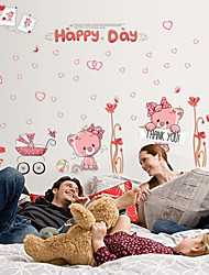 Cartoon Lovely Couple Bears PVC Wall Sticker Wall Decals
