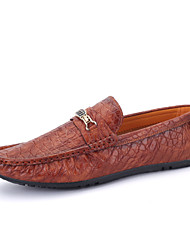 Men's Leather Shoes  Slip on Loafers Driving Shoes Men Flats