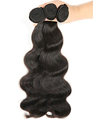 "3Pcs/Lot 8""-26"" Brazilian Virgin Hair Body Wave ,Natural Black Color ,Raw Human Hair Weaves Hot Sale."