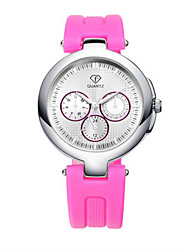 Women's White Case Silicone Band Analog Wrist Watch Jewelry Cool Watches Unique Watches