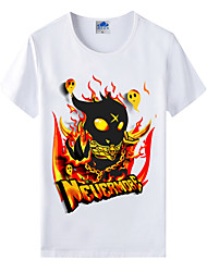 Flaming Light Cotton Lycra Men's T-shirt/World of Warcraft Wow Series Heroes T-Shirt/Cartoon Dark 1Pc