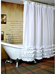 "Modern Ruffled Shower Curtains W71""×L71"""