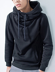 HOT! Men's Long Sleeve Fleece Pullover Tracksuits Hoodie & Sweatshirt, Solid Casual Sport Outerwear Coat