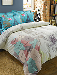Betterhome  4 Piece Pure Cotton Unique 3D Definition Stereoscopic  Print Bedding  Duvet Cover Sets