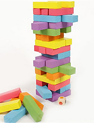 Children's Educational Toys Wooden Game This Pumping 48 Grain Color Blocks