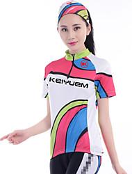 KEIYUEM® Camisa para Ciclismo Mulheres Manga Curta MotoImpermeável / Respirável / Secagem Rápida / A Prova de Vento / Isolado / Á