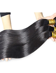 "3Pcs/Lot  150g 8""-26"" Peruvian Virgin Straight Hair Natural Color 1B# Human Hair Weave Bundles"
