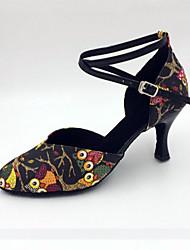 Scarpe da ballo-Personalizzabile-Da donna-Balli latino-americani / Moderno / Samba-A stiletto-Finta pelle-Nero