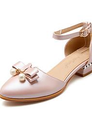 Women's Shoes Synthetic Low Heel Heels / Comfort Heels Outdoor / Casual Green / Pink / White / Beige