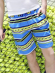 Men's Print / Striped Casual Shorts,Cotton Multi-color