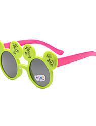 Kids Photochromic 100% UV Butterfly Full-Rim Round Sunglasses Style(Random Color)