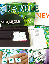 Plastic Scrabble Tiles French Letters Numbers Children Scrabble Games Brand Crossword Game Original Word Games Gift