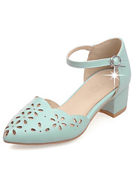 Women's Summer Leatherette Casual Low Heel Others Blue Pink White