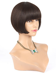 100% Human Hair Short Bob Wigs For Black Women With Baby Hair