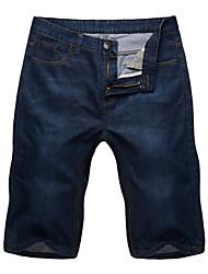 Men's Pure Capri pants,Cotton / Spandex Casual / Plus Sizes Loose Add fertilizer to increase Straight Jeans