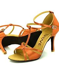 Chaussures de danse(Autre) -Personnalisables-Talon Personnalisé-Cuir-Latine / Salsa