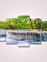 Modern Canvas Print Five Panels Ready to Hang,Horizontal