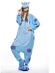 Kigurumi Pajamas New Cosplay® / Monster Leotard/Onesie Festival/Holiday Animal Sleepwear Halloween Blue Patchwork Polar Fleece Kigurumi