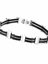 Fashion Men Titanium Steel Magnetic Bracelet Business Bangle Health Wristband Link Chain Luxury Jewelry Perfect Gift