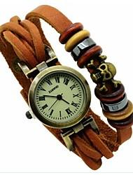 Vintage skeleton punk Bracelet Watch