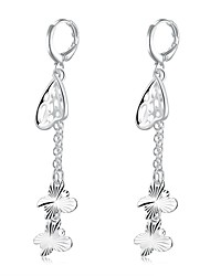 lureme®Fashion Style Silver Plated Tassel Shaped Dangle Earrings