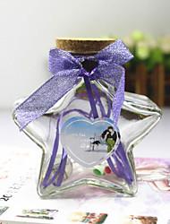 2pcs viento pequeño rural puro y fresco y 2 estrellas brillando en deseando la botella botella de suerte un regalo de cumpleaños