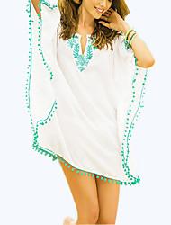 Robes Légères Aux femmes Franges Sans Armature Licou Mousseline de soie