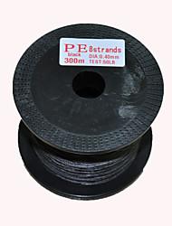 300M / 330 Yards PE geflochtene Leine / Dyneema Schwarz 50LB 0.4 mm FürSeefischerei / Fliegenfischen / Köderwerfen / Spinning / Fischen