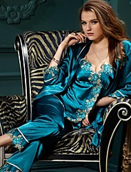 Women Lace / Satin / Silk Pajama Thin