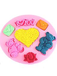 Moule de Cuisson Cartoon 3D Pour Gâteau Pour Cookie Pour Tarte Silikon Ecologique Haute qualité La Saint Valentin