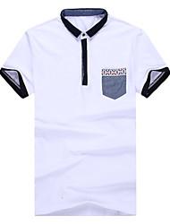 2016 summer summer new male short sleeved T-shirt Lapel shirt sleeve slim Polo semi popular men's T-shirt