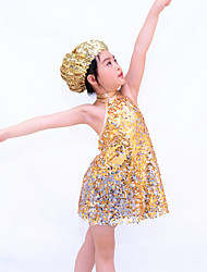 Children Dance Dancewear Sequined Children Jazz Dress Jazz Dance outfits