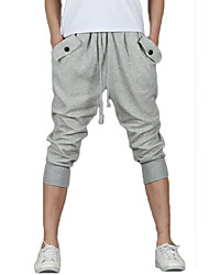 Brand Fashion Men's Cropped-pants Breathable Comfortable Shorts,Casual / Sport Solid Cotton / Polyester