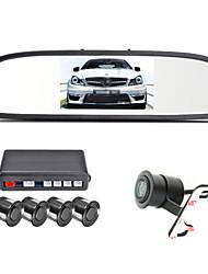 renepai® 4,3-Zoll-4-Sonde parkender Sensoren LCD-Display der Kamera Video-Auto-Rückunterstützungsradar-System-Kit Summeralarm 12v